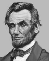 Abraham Lincoln by imDRUNKonTEA