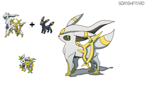 PokeFusion Arceus and Umbreon by Sora-Shintaro