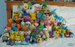 My PokePlush Pile by Fishlover