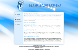 Klein Informatique web design by Epoc22