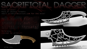 Sacrificial Dagger by primnull