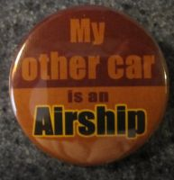'My Other Car is an Airship' button by BlackUnicornWood