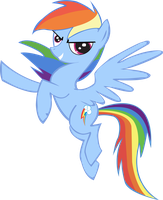 Rainbow Dash Yeah Vectorized by M4ng0s