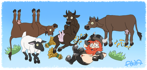 The Yogscast - Cows just wanna have fun by RatherPeculiar