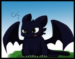 Chibi Toothless by eQumi