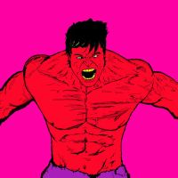 Red Hulk by ArtismyDeath