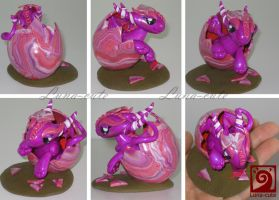 dragon easter egg pink by Luna-cuteXD