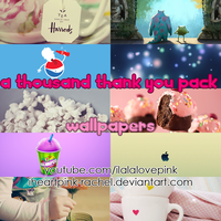 a thousand thank you pack: wallpapers by iheartpink-rachel