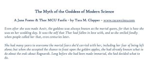 Jane Foster: Myth of the Goddess of Modern Science by elfmeneluin