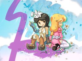 Pokky and May Splash Screen by BrianLukArt
