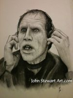 Bub from originial day of the dead charcoal by johnstewartart