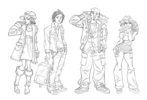 ANIMATION: Boys and Girls line-up by StephenBJones