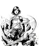 Inktober day 3 Korra by The-Internationalist