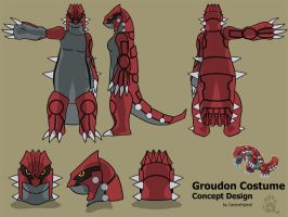 Groudon Costume Concept