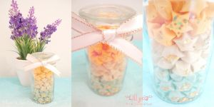 Citrus Stars - White Ribbon - Gold Glitter by lillyxia
