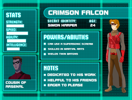 YJ Profile: Crimson Falcon by tifafenrir09