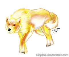 Zelda MegaCollab: Golden Wolf by Clopina