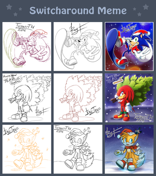 Switch Around Meme: Christmas / New Year 2016 by TwisterTH