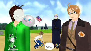 [MMD] A Swedish and an American mochi by PikaBlaze
