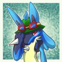 Lucario with Teemo Hat - Commission by RinTheYordle
