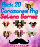 Pack 20 Corazones Png Selena Gomez zip. by FernandaaEditions
