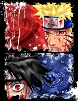 Naruto VS Sasuke p1 by Sil3ntXspiRit