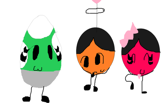 Yoshi Egg Orange Ball Pink Ball by yinyang-yinyeng