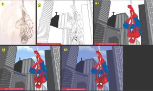 Spider-Man step by step by Kaio-Silva