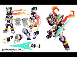 Megaman ZX3 Concept: Biometal Model ZXA by ultimatemaverickx