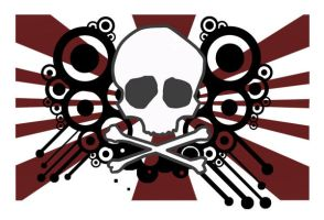 skull and cross bones by LuckyMadRabbit