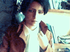 Jacket - Rivaille cosplay GIF by Jiosan