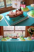 One Piece Going Merry Cake by ayarel
