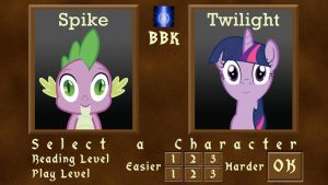 Twilight and Spike game menu by BB-K