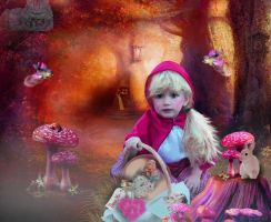 Red Riding Hood meets Alice by tinca2