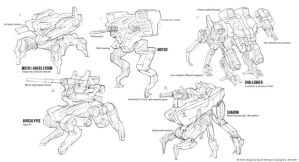 Mech Design Sketch  by WarrGon