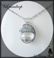 Raindrop Necklace by fantasywinds