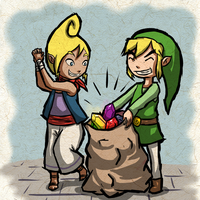 Link and Tetra - Request by Zeepla