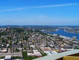 View from space needle by LadyReaderofBooks