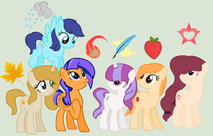 NG: The new Mane Six by MelodyHeartArtist