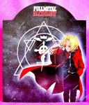 Hand painted Fullmetal Alchemist wall clock by SimonaZ