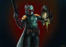 Boba Fett discovers new life form. by d-art-studios