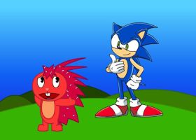 Flaky and Sonic by Rainbroach