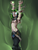 Mithlanthir the Living Doll Druid by Lavender-Doll