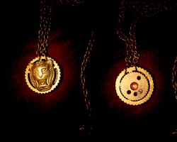 Tiger Gear Necklace by turnerstokens
