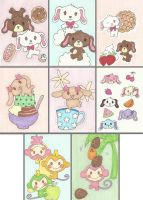 Sanrio Sketch Cards by chibimonkies