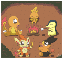 Pokemon Bonfire by pichu90