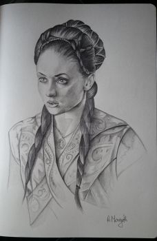 Game of Thrones character sketch book- Sansa Stark by RavenMorgoth