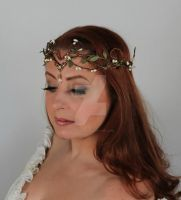Leaf Headdress by glittrrgrrl