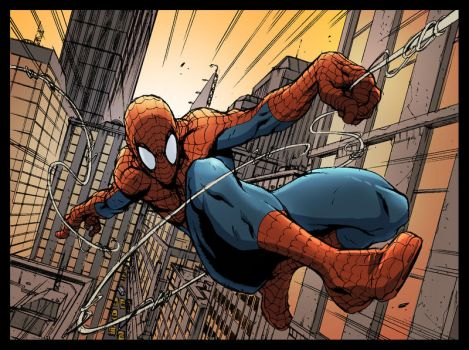 Spidey Colour Practice by puggdogg