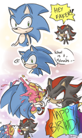Happy 22nd Birthday to Sonic :D by ChibiDoodlez